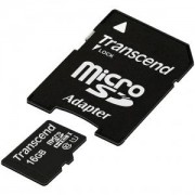 Flash карта Transcend 16GB micro SDHC UHS-I Premium (with adapter, Class 10) - TS16GUSDU1