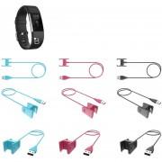 3pcs 1M USB Cable Cargador para Fitbit Charge 2 Reemplazo 3 Colors