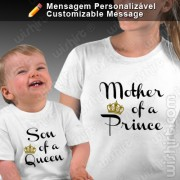 T-shirts Mother of a Prince - Bebé