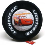 Verdák Villám McQueen plüss párna kerék alakú