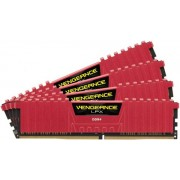 Memorii Corsair Vengeance LPX RED DDR4, 4x4GB, 2400 MHz, CL 14