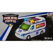 Police City Rendőrautóbusz világítós zenélős önműködő autó No.89-899 - Gyerek játék
