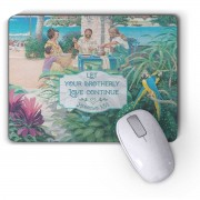 Paradise Mouse Pad with beautiful Bible text