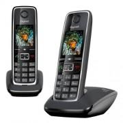 Siemens C530 Duo Teléfono inalámbrico (2 terminales), color negro (importado)