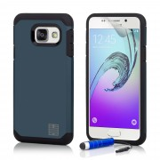 Coque Samsung Galaxy A3 (2017) -Slimarmour- Fine Et Antichoc Par 32nd®, Film Protecteur Et Stylet Inclus - Bleu Ardoise