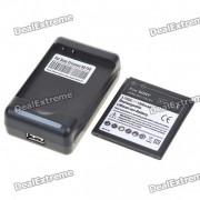 USB / AC Battery Charging Cradle + batterie 1500mAh + adaptateur UE pour Sony Ericsson Xperia Arc LT15i/X12
