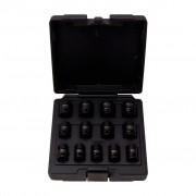 KS Tools Impact Socket Set BiHex 13 Pieces 1/2-Inch 10-24mm