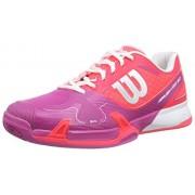 Wilson Rush Pro 2.0 Clay, Unisex adultos Zapatillas de tenis, Rojo / Rosa