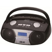 Microsistem audio Akai APRC-106, MP3 player, Radio FM, USB (Negru)