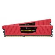 Corsair CML8GX3M2A1866C9R Vengeance Low Profile Memoria per Desktop a Elevate Prestazioni da 8 GB (2x4 GB), DDR3, 1866 MHz, CL9, con Supporto XMP, Rosso