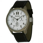 Henley H01006.3 - Reloj analógico de caballero de cuarzo con correa de plástico marrón