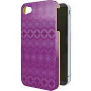 Carcasa LEITZ Complete Retro Chic, pentru iPhone 4/4S - mov/galben