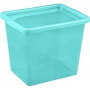 Cutie depozitare cu capac 29 litri albastru deschis