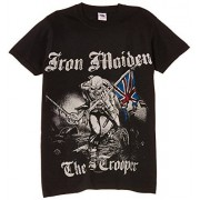 Rock Off Camiseta de manga corta con cuello redondo para hombre, color negro, talla xl