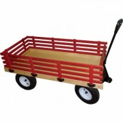Millside Industries Wagon -48 Inch L x 24 Inch W, 600-lb. Capacity, Model HD, Red