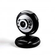 Webcam LED 1.3m Bright Quimera - 0189 - Microfone   Foco ajustável