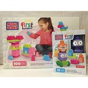 Mega Bloks First Builders Imagination Building - Pink & Stack 'N Roll Forest Friends