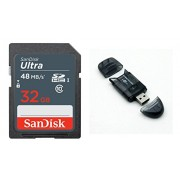 Sandisk Ultra SDHC 32GB UHS-I Class 10 Card With SD / MMC / RS-MMC Pen Card Reader ( Colors May Vary ) Only From M.P.Enterprises