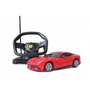 Rastar 1:18 Remote Control Ferrari F12 with Steering Wheel Controller, Multi Color