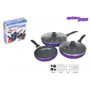 Set 3 tigai spider pan strat antiaderent