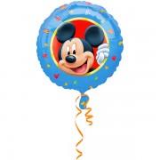 Balon folie metalizata Mickey Mouse portret - 45 cm diametru