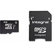 Card Memorie Integral Micro SD 8GB Clasa 10 + Adaptor SDHC inmsdh8g10-40u1