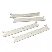 Lego Parts: City - Garage Roller Door Section with Handle (Service Pack of 4 - White)
