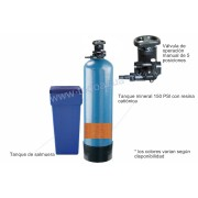 SUAVIZADOR de Agua de 1.5 pie cubico Válvula de control Manual