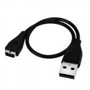 USB Cable de carga para carga de Fitbit HR inteligente de pulsera - negro