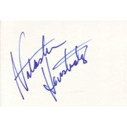 Natasha Henstridge Autographed Index Card