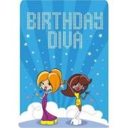 Pop Star Divas - Happy Birthday Card-Book by Mackerel Design