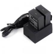 Dual USB Oplader voor GoPro Hero 1/2/3/3+