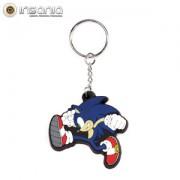 Porta-chaves Borracha Sonic