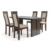 Jedálenský stôl + 4 stoličky T-6541 WAL + BC-3921 WAL