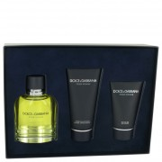 Dolce & Gabbana EDT Spray 4.2 oz / 124 mL + After Shave Balm 3.3 oz / 100 mL + Shower Gel 1.7 oz / 50 mL 462611