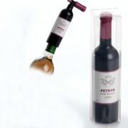 Sacacorchos forma botella de vino en cajita