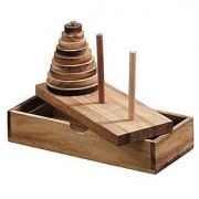 BRAIN GAMES Tower Of Hanoi Wooden Puzzle Game