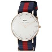 Daniel Wellington 0501DW - Reloj con correa de acero para mujer, color blanco / gris
