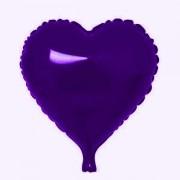 Balon folie 45 cm Inima Mov