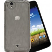 ECellStreet Semi Transparent Soft Back Case Cover Back Cover For Micromax Canvas A1 / A2 / Karbonn Sparkle V - Grey