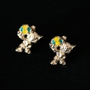 Earring Gold Plated Jewelry Semi World Cup Brazil