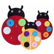 Yoovi Early Learning Basic Life Skills Learn to Dress Ladybug Family
