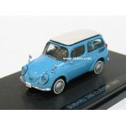 EBBRO 1/43 Subaru 360 Custom 1963 light blue (japan import)