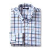 ランズエンド LANDS' END メンズ・ノーアイロン・ブレザーシャツ/ボタンダウン/長袖(ツリールートタッターソール)