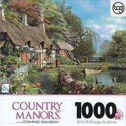 TCG Riverside Home in Bloom By Dominic Davison 1000 Piece Puzzle