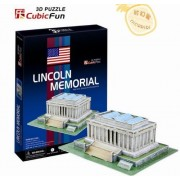 3D puzzle toy paper model jigsaw game C104H Lincoln memorial by RayToys