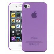 Quicksand Air skin Super Thin Matte Finish Anti Slip Back Case Cover for Apple iPhone 4S Purple
