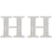 Magideal 2Pcs Self Adhesive Letters Diamante Post Box Favour Embellishment Crafts H