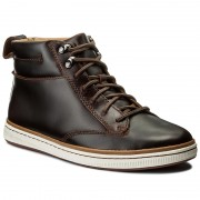 Обувки CLARKS - Norsen Mid 261278277 Dark Tan Leather