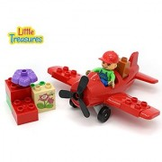Propeller Airplane Building Block 8 pc Play Set - compatible with Duplo parts